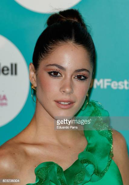 Singer Martina Stoessel attends the David Bisbal concert photocall at Royal Theatre on July 26 2017 in Madrid Spain