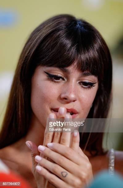 Singer Martina Stoessel attends the 'Tadeo Jones 2 El secreto del Rey Midas' premiere at Kinepolis cinema on August 22 2017 in Madrid Spain