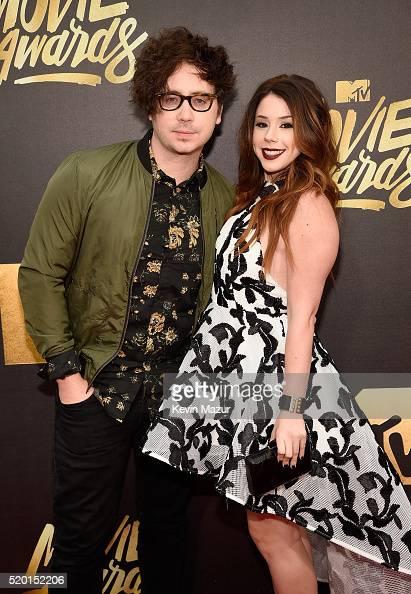 Singer Marty Shannon and Jillian Rose Reed attend the 2016 MTV Movie Awards at Warner Bros Studios on April 9 2016 in Burbank California MTV Movie...