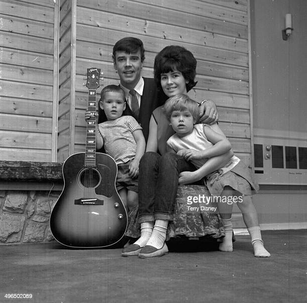 Singer Marty Wilde with his wife Joyce and children Ricky and Kim Wilde October 20th 1964