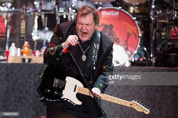 US singer Marvin Lee Aday aka Meat Loaf performs on stage in Zwolle on May 11 2013 The concert is part of his final tour 'Last At Bat Farewell Tour'...
