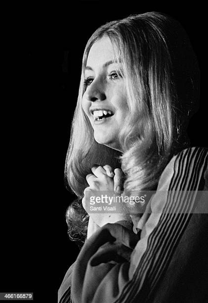 Singer Mary Hopkin on August 8 1969 in New York New York