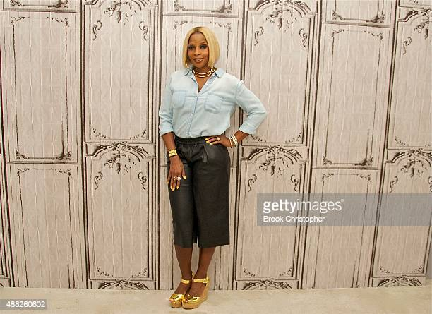 Singer Mary J Blige attends AOL BUILD speaker series at AOL Studios In New York on September 14 2015 in New York City