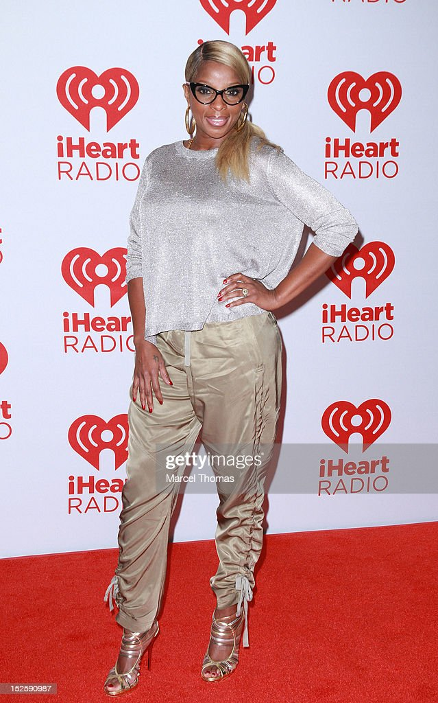 Singer Mary J Blige attends day 2 of the iHeartRadio Music Festival at MGM Grand Garden Arena on September 22, 2012 in Las Vegas, Nevada.