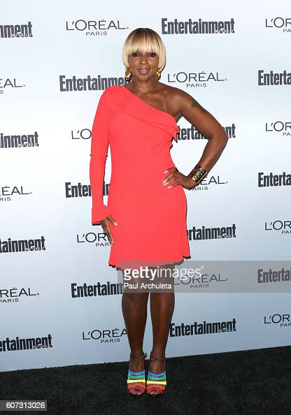 Singer Mary J Blige attends Entertainment Weekly's 2016 PreEmmy party at Nightingale Plaza on September 16 2016 in Los Angeles California