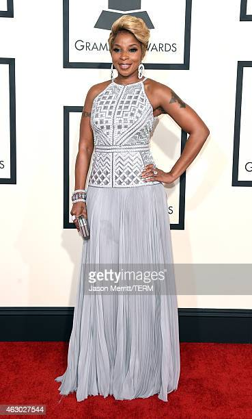 Singer Mary J Blige attends The 57th Annual GRAMMY Awards at the STAPLES Center on February 8 2015 in Los Angeles California