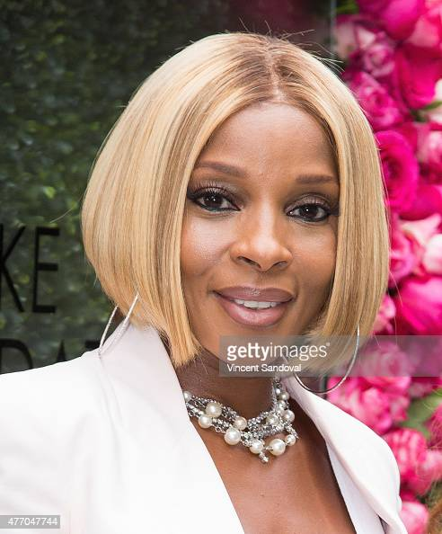 Singer Mary J Blige attends the LadyLike Foundation 7th Annual Women of Excellence scholarship luncheon at Luxe Hotel on June 13 2015 in Los Angeles...