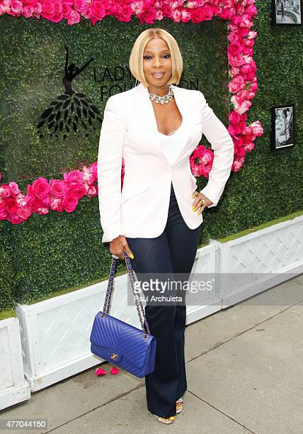 Singer Mary J Blige attends the LadyLike Foundation's 7th Annual Women Of Excellence Scholarship luncheon at Luxe Hotel on June 13 2015 in Los...