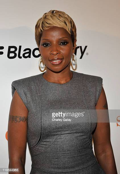 Singer Mary J Blige attends the 'Precious' Pre Gala Screening Cocktail Reception Hosted by BlackBerry held at the Royal Ontario Museum during 2009...