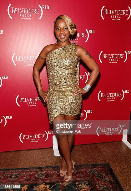 Singer Mary J Blige attends the RED PreGrammys Party with Mary J Blige held at Avalon on February 9 2012 in Hollywood California Photo by Christopher...