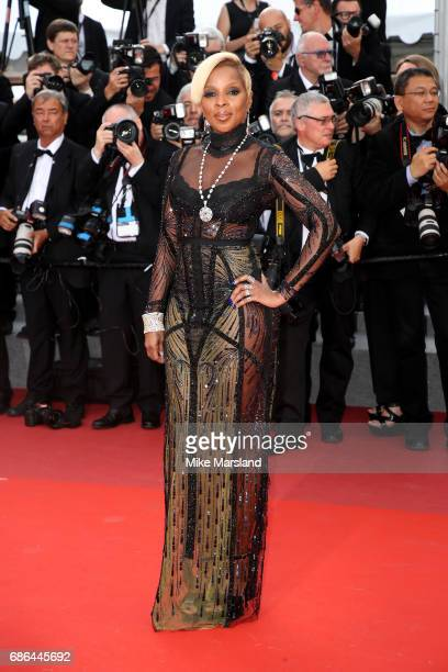 Singer Mary J Blige attends the 'The Meyerowitz Stories' screening during the 70th annual Cannes Film Festival at Palais des Festivals on May 21 2017...