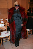 Singer Mary J Blige attends the Zac Posen fashion show at Vanderbilt Hall at Grand Central Terminal on February 16 2015 in New York City