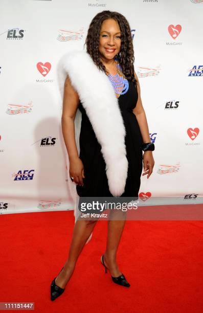 Singer Mary Wilson arrives at the 2009 MusiCares Person of the Year Tribute to Neil Diamond at the Los Angeles Convention Center on February 6 2009...