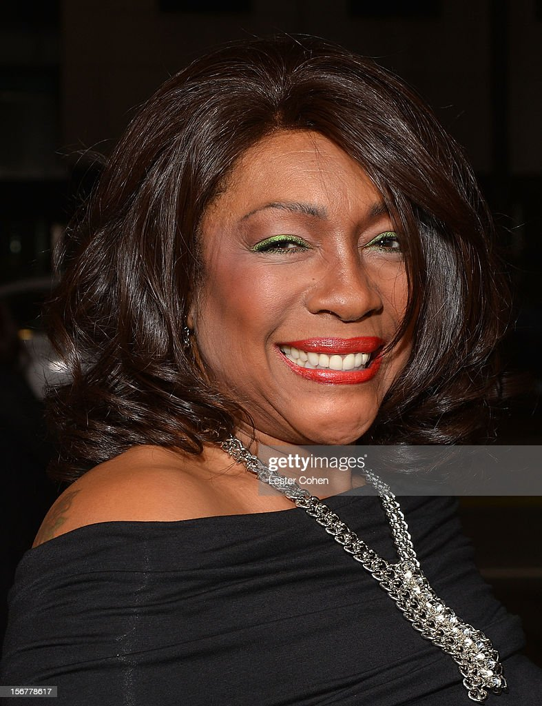 Singer Mary Wilson arrives at the premiere of Fox Searchlight Pictures' 'Hitchcock' at the Academy of Motion Picture Arts and Sciences Samuel Goldwyn Theater on November 20, 2012 in Beverly Hills, California.
