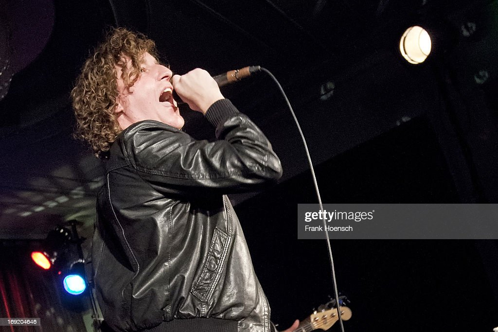 Singer Matt Bowman of The Pigeon Detectives performs live during a concert at the Gruener Salon on May 21, 2013 in Berlin, Germany.