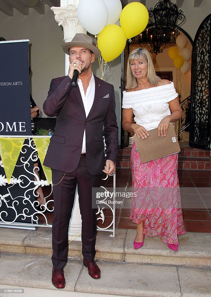 Singer Matt Goss and Chantal Rickards CEO of Bafta LA attend the BAFTA LA Garden Party on June 7 2015 in Los Angeles California