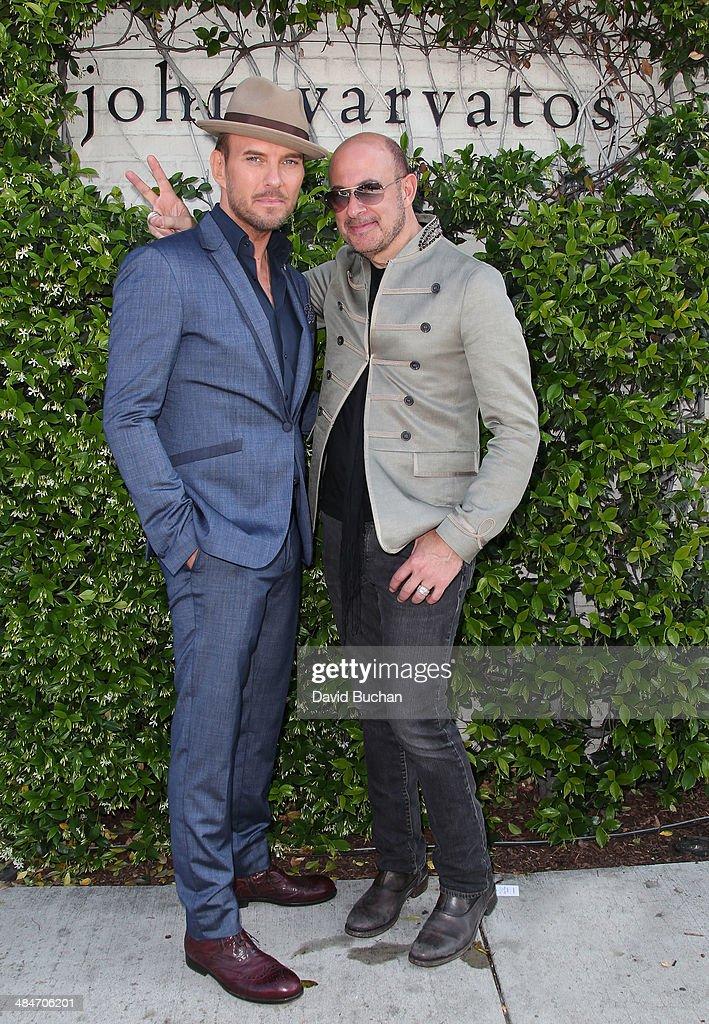 Singer Matt Goss and Designer John Varvatos 11th Annual John Varvatos Stuart House Benefit at John Varvatos on April 13 2014 in Los Angeles California