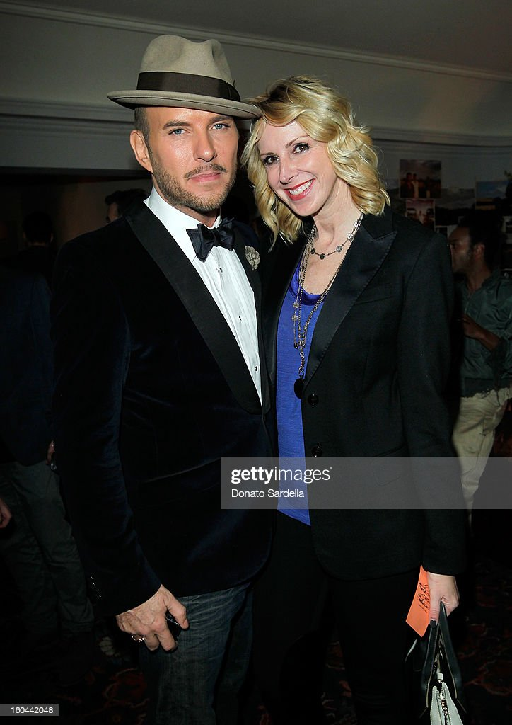 Singer Matt Goss (L) attends Hoorsenbuhs for Forevermark Collection cocktail party at Chateau Marmont on January 30, 2013 in Los Angeles, California.