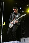 Singer Matt Heafy from Trivium performs during the 'Louder Than Life' festival at Champions Park on October 3 2015 in Louisville Kentucky