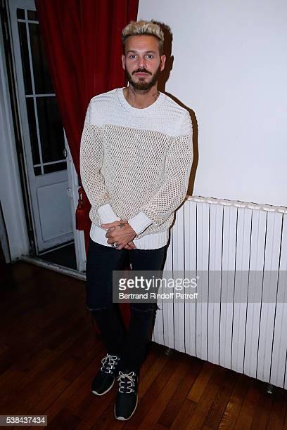 Singer Matt Pokora alias M Pokora attends the Concert of Patrick Bruel at Theatre Du Chatelet on June 6 2016 in Paris France