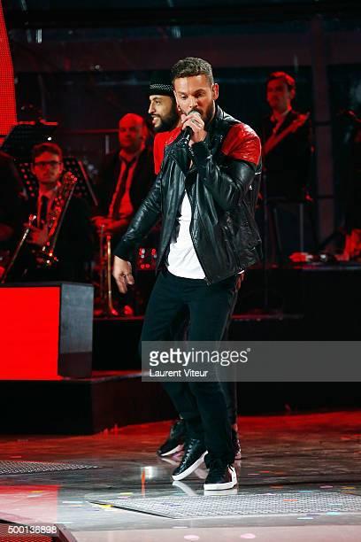 Singer Matt Pokora attends the 'France Television Telethon 2015'Marc Lavoine at Hippodrome de Longchamp on December 5 2015 in Paris France
