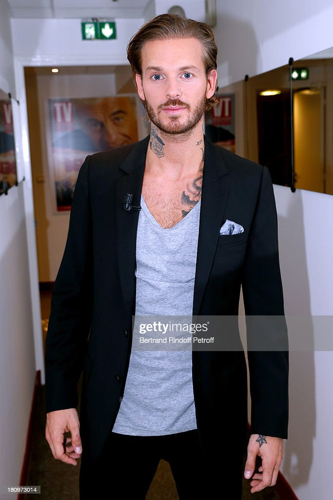 Singer Matt Pokora from musical comedy 'Robin des Bois' attends 'Vivement Dimanche' French TV Show at Pavillon Gabriel on September 18, 2013 in Paris, France.