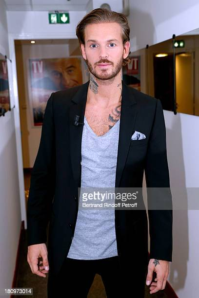 Singer Matt Pokora from musical comedy 'Robin des Bois' attends 'Vivement Dimanche' French TV Show at Pavillon Gabriel on September 18 2013 in Paris...