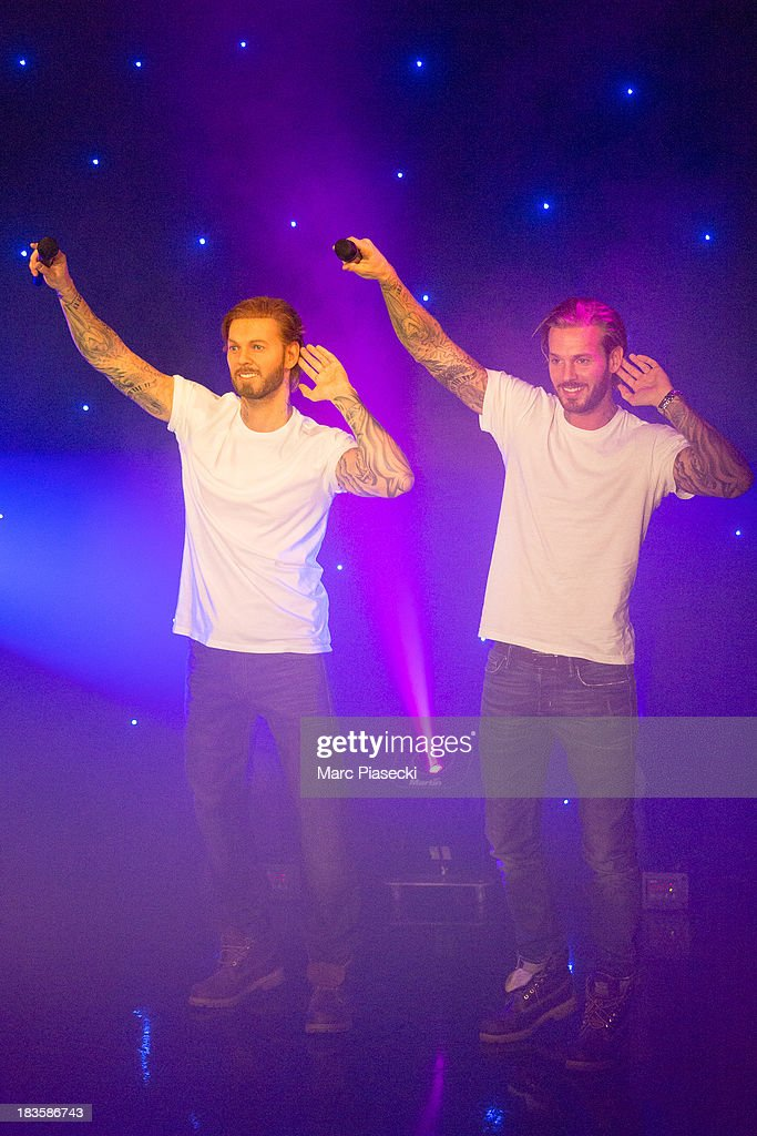 Singer <a gi-track='captionPersonalityLinkClicked' href=/galleries/search?phrase=Matt+Pokora&family=editorial&specificpeople=815249 ng-click='$event.stopPropagation()'>Matt Pokora</a> unveils his waxwork at Musee Grevin on October 7, 2013 in Paris, France.