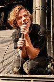 Singer Matt Shultz of Cage the Elephant performs onstage during day 2 of the Firefly Music Festival on June 19 2015 in Dover Delaware