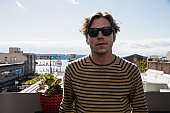 Singer Matthew Shultz of Cage the Elephant poses for a portrait before an EndSession hosted by 1077 The End at the Hard Rock Cafe Seattle on...