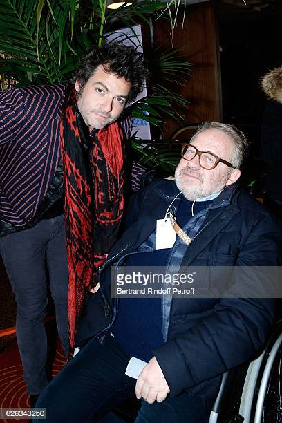 Singer Matthieu Chedid alias M and Dominique Segall attend the 'Demain Tout Commence' Paris Premiere at Cinema Le Grand Rex on November 28 2016 in...