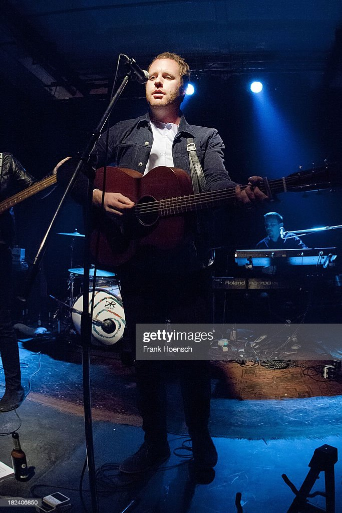 Singer Matty Chipchase of Young Rebel Set performs live during a concert at the Glashaus on September 29, 2013 in Berlin, Germany.