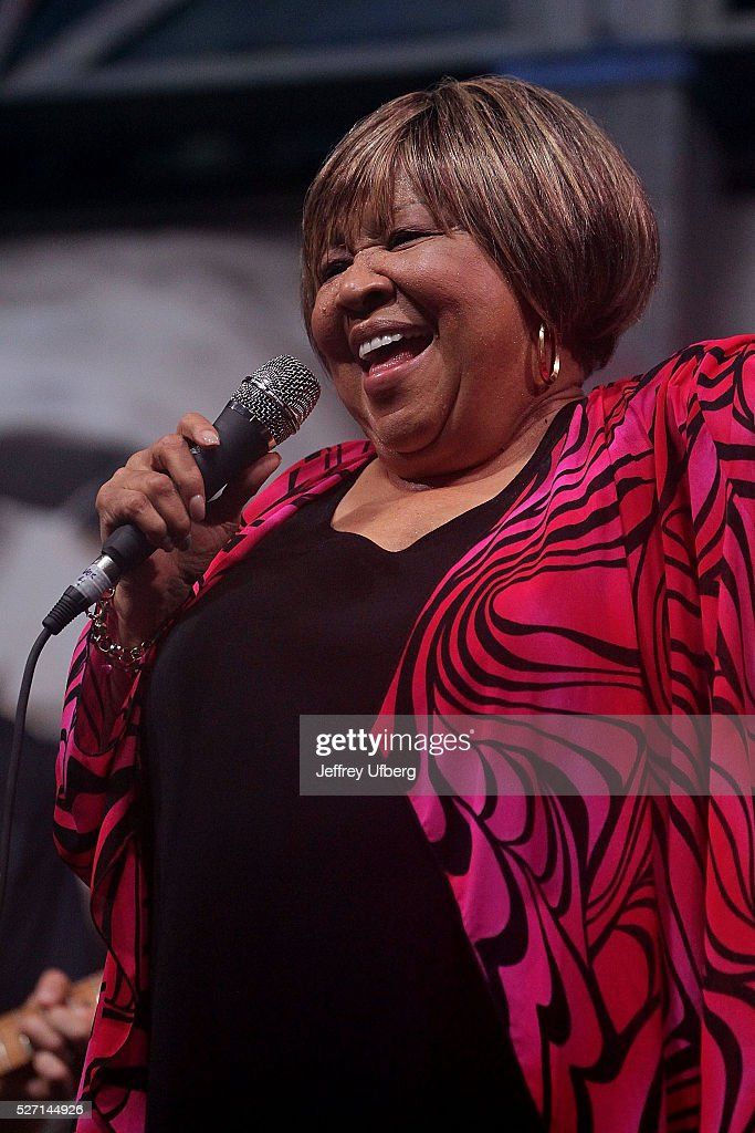 Singer Mavis Staples performs at Fair Grounds Race Course on May 1, 2016 in New Orleans, Louisiana.