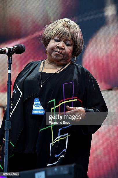 Singer Mavis Staples performs at FirstMerit Bank Pavilion at Northerly Island during 'Farm Aid 30' on September 19 2015 in Chicago Illinois
