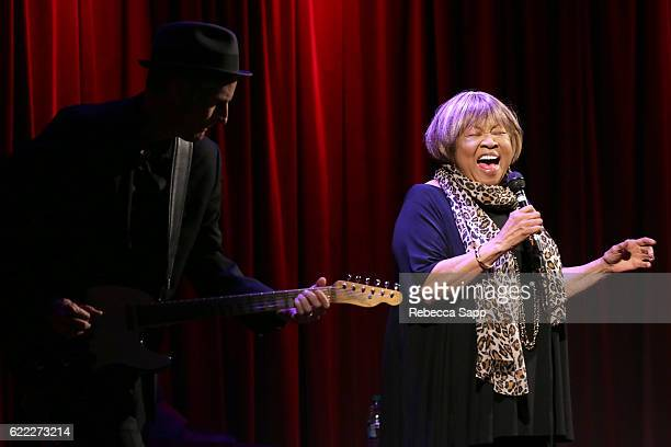 Singer Mavis Staples performs at Reel to Reel Mavis at The GRAMMY Museum on November 10 2016 in Los Angeles California