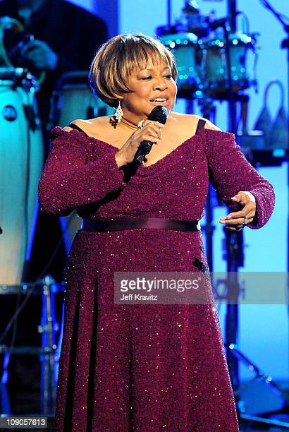 Singer Mavis Staples performs onstage during The 53rd Annual GRAMMY Awards held at Staples Center on February 13 2011 in Los Angeles California