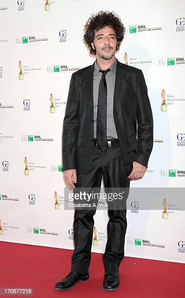 Singer Max Gazze attends 2013 Premi David di Donatello Ceremony Awards at Dear RAI Studios on June 14 2013 in Rome Italy