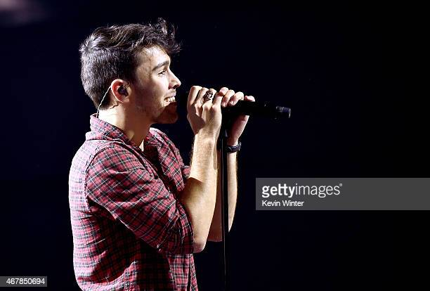 Singer Max Schneider aka MAX performs onstage during iHeartRadio Music Awards Fan Army Nominee Celebration presented by Taco Bell featuring Shawn...