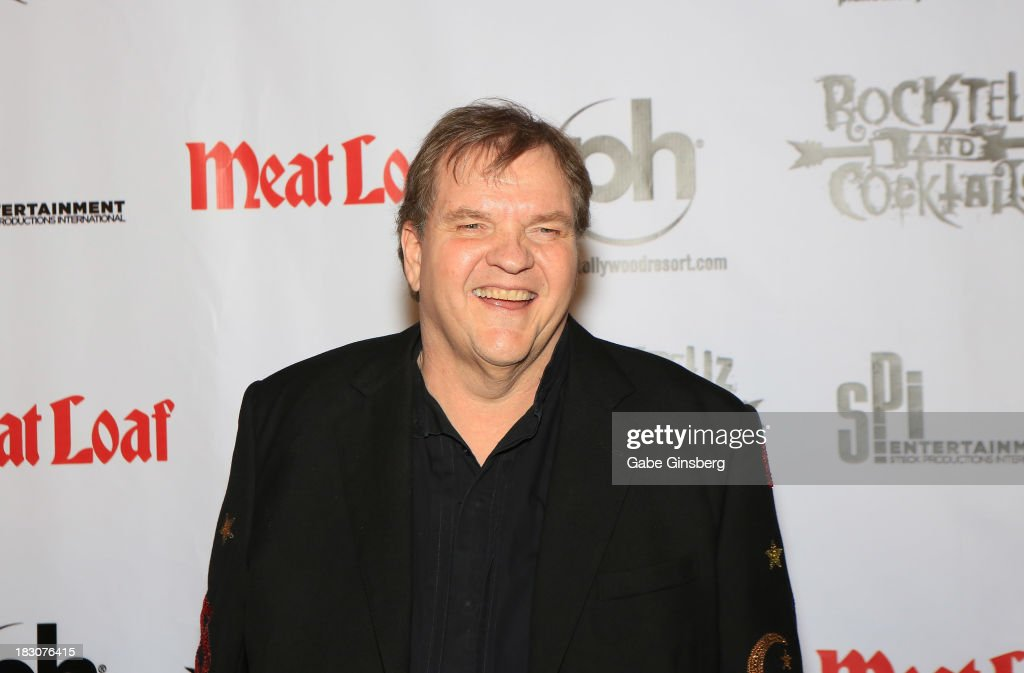Singer Meat Loaf arrives at the show 'RockTellz & CockTails presents Meat Loaf' at Planet Hollywood Resort & Casino on October 3, 2013 in Las Vegas, Nevada.