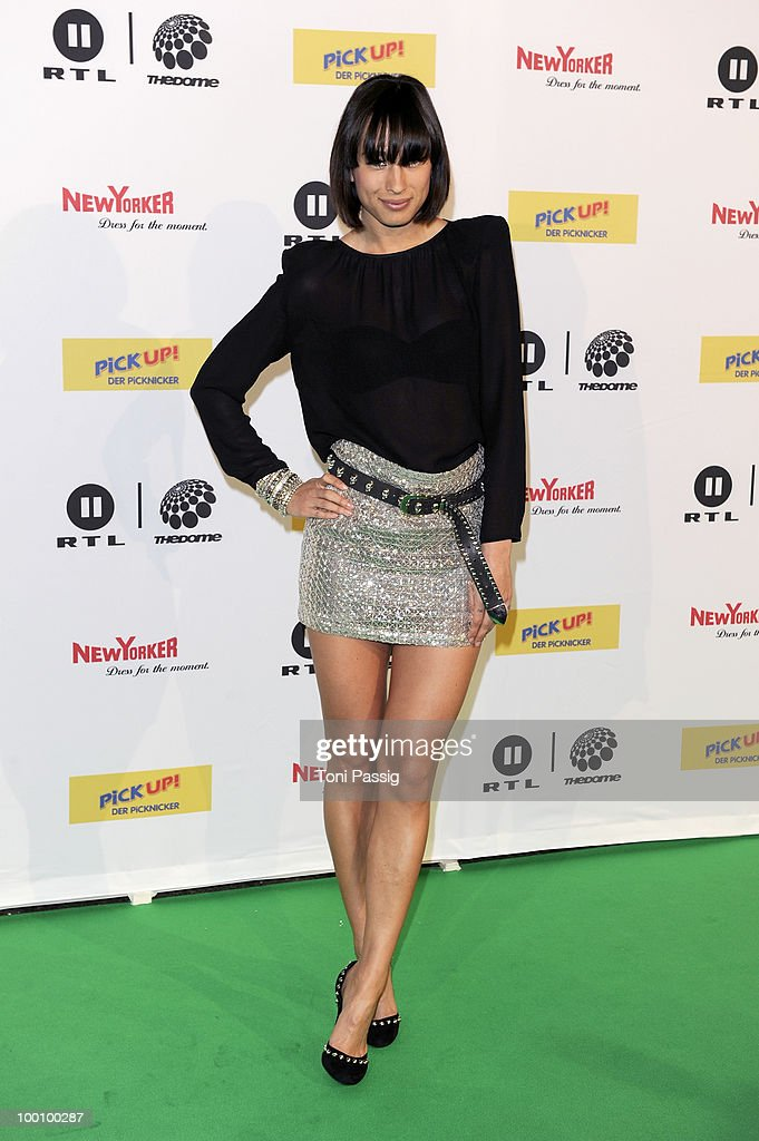 Singer Medina arrives at 'The Dome 54' at Schleyerhalle on May 20, 2010 in Stuttgart, Germany.