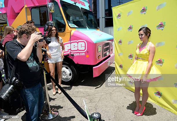 Singer Megan Nicole attends the 7Eleven 88th birthday celebration at 7Eleven on July 10 2015 in Burbank California