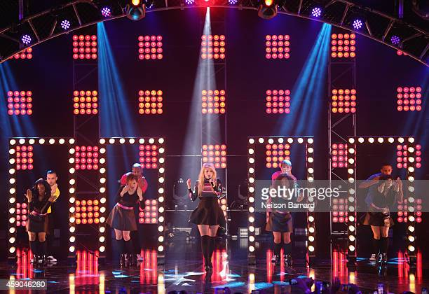 Singer Meghan Trainer performs onstage at the Sixth Annual Nickelodeon HALO Awards in New York City The hourlong concert special will premiere Sunday...