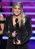 Singer Meghan Trainor accepts Favorite Album award for 'Title' onstage during the People's Choice Awards 2016 at Microsoft Theater on January 6 2016...
