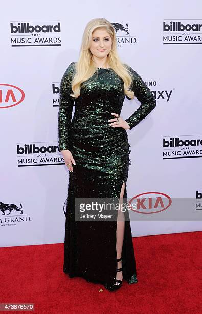 Singer Meghan Trainor arrives at the 2015 Billboard Music Awards at the MGM Grand Garden Arena on May 17 2015 in Las Vegas Nevada