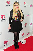 Singer Meghan Trainor attends 1035 KISS FM's Jingle Ball 2014 at Allstate Arena on December 18 2014 in Chicago Illinois