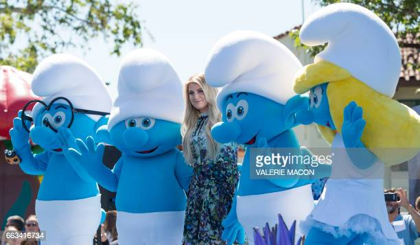 Singer Meghan Trainor attends Columbia Pictures and Sony Pictures Animation World Premiere of 'Smurfs The Lost Village' at Arclight Culver City on...