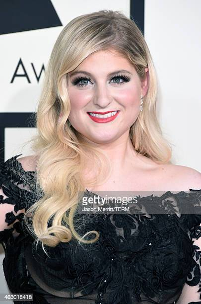Singer Meghan Trainor attends The 57th Annual GRAMMY Awards at the STAPLES Center on February 8 2015 in Los Angeles California