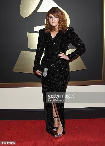 Singer Meghan Trainor attends The 58th GRAMMY Awards at Staples Center on February 15 2016 in Los Angeles California