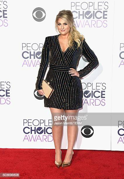 Singer Meghan Trainor attends the People's Choice Awards 2016 at Microsoft Theater on January 6 2016 in Los Angeles California