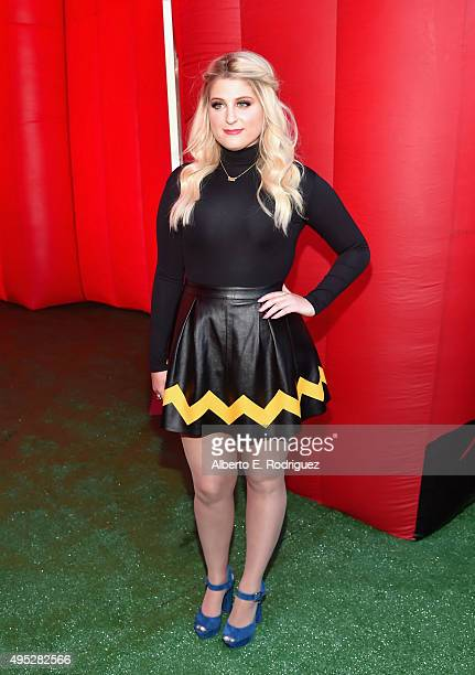 Singer Meghan Trainor attends the premiere of 20th Century Fox's 'The Peanuts Movie' at The Regency Village Theatre on November 1 2015 in Westwood...